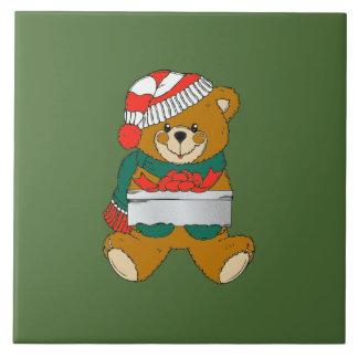 WeihnachtenTrivet Teddybär Fliese