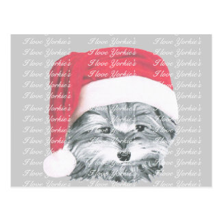 WeihnachtenYorkie Hundepostkarte Postkarte