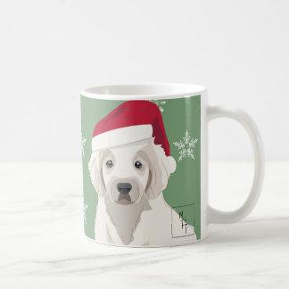 Weihnachtlicher Becher Trauriger junger Hund Kaffeetasse