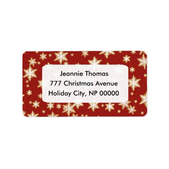 Weihnachtsadressen-Etiketten Adressaufkleber
