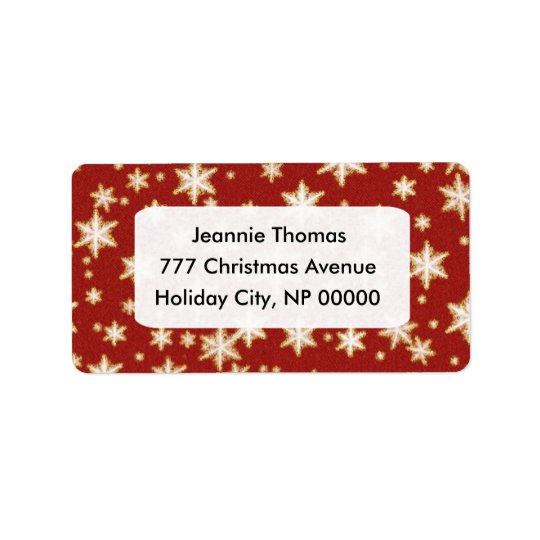 Weihnachtsadressen-Etiketten Adressetiketten