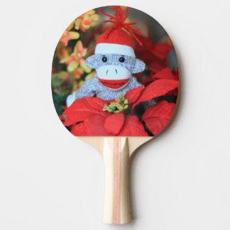Weihnachtsaffe Tischtennis Schläger