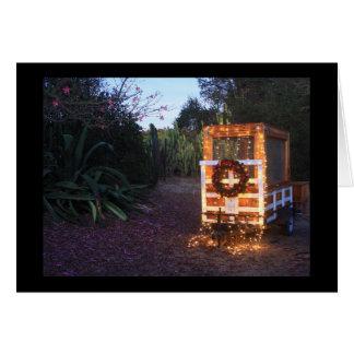 Weihnachtsanhängerlichter Karte