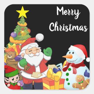 Weihnachtsaufkleber Quadratischer Aufkleber