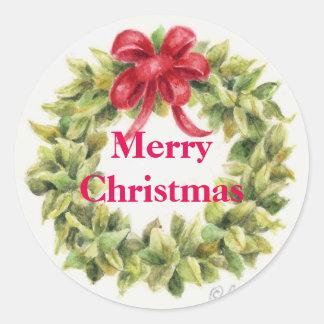 Weihnachtsaufkleber winden um runder aufkleber