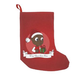 Weihnachtsbaby-Cartoon Kleiner Weihnachtsstrumpf