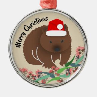 Weihnachtsbaby Wombat Silbernes Ornament