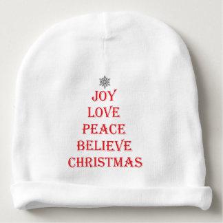 Weihnachtsbabybeanie-Hut Babymütze