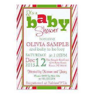 WeihnachtsBabyparty-Einladung Karte