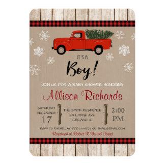 WeihnachtsBabypartyeinladung, Feiertagsdusche 12,7 X 17,8 Cm Einladungskarte