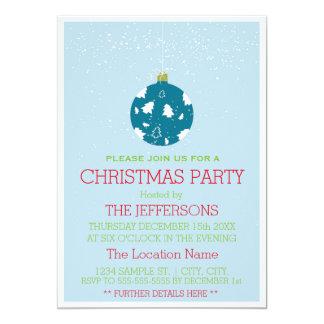 Weihnachtsball verziert Party Einladung