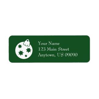Weihnachtsball-Verzierungs-Adressen-Etiketten Kleiner Adressaufkleber