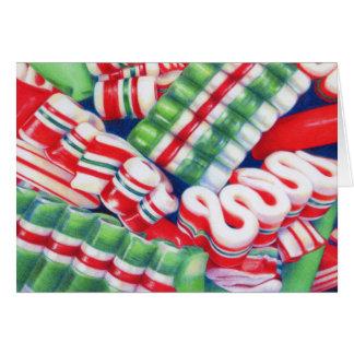 Weihnachtsbandsüßigkeits-Anmerkungskarte Karte