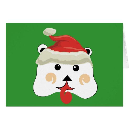 Weihnachtsbär Mitteilungskarte