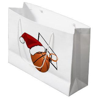 Weihnachtsbasketball und -band große geschenktüte