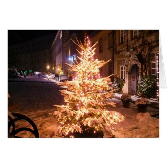Weihnachtsbaum 7 grußkarte