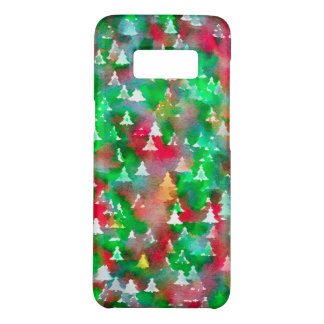 Weihnachtsbaum-Aquarell-Muster Case-Mate Samsung Galaxy S8 Hülle
