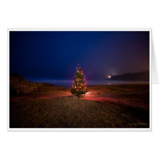 Weihnachtsbaum auf der Strand-Weihnachtskarte Grußkarte