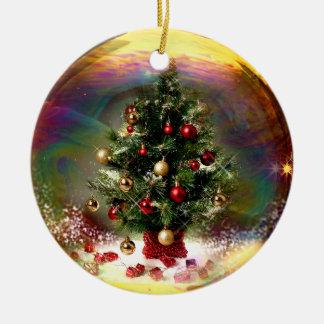 Weihnachtsbaum-Blasen-Verzierung Keramik Ornament