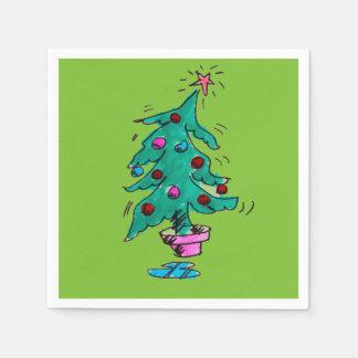 Weihnachtsbaum-Cocktail-Servietten - Grün Papierserviette