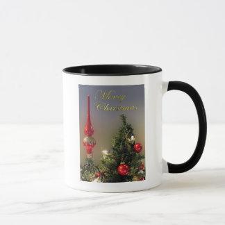 Weihnachtsbaum-Deckel-Tassen und Schalen Tasse