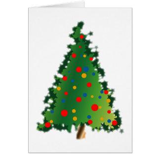 Weihnachtsbaum-Dekoration Karte