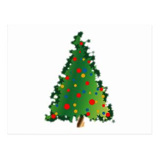 Weihnachtsbaum-Dekoration Postkarte