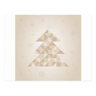 Weihnachtsbaum ein Dreieck Postkarte