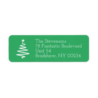 Weihnachtsbaum-Familien-Feiertags-Rücksendeadresse