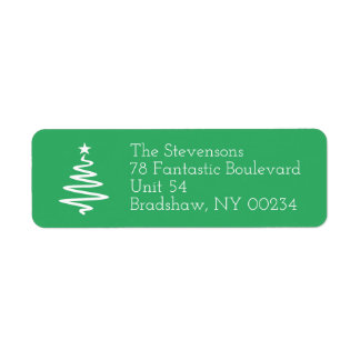 Weihnachtsbaum-Familien-Feiertags-Rücksendeadresse Rücksendeetiketten