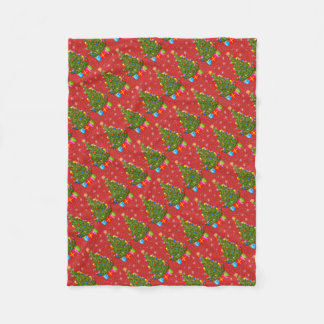 Weihnachtsbaum-Fleece-Decke Fleecedecke
