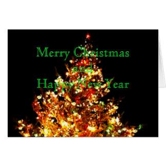 Weihnachtsbaum Foto-Geschenkkartenteil 1 Karte