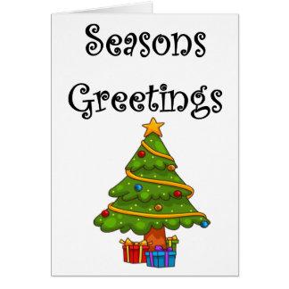 Weihnachtsbaum-Frohe Festtage Karte
