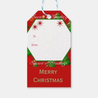 Weihnachtsbaum frohe Weihnachten Geschenkanhänger