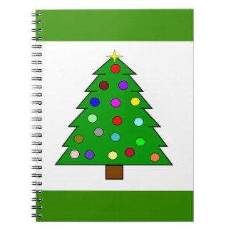 Weihnachtsbaum (frohe Weihnachten) Spiral Notizblock