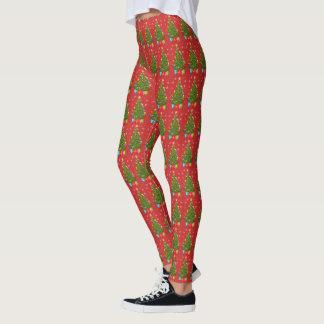 Weihnachtsbaum-Gamaschen Leggings