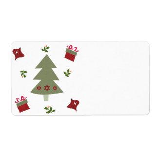 Weihnachtsbaum-Geschenke und Stechpalme