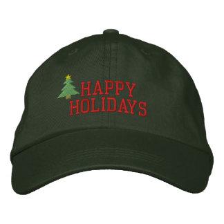 Weihnachtsbaum-gestickter Hut