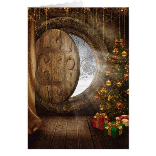 Weihnachtsbaum-Gruß-Karte Grußkarte