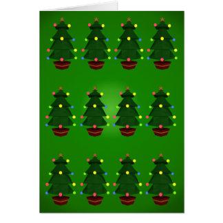 Weihnachtsbaum-Karte Karte