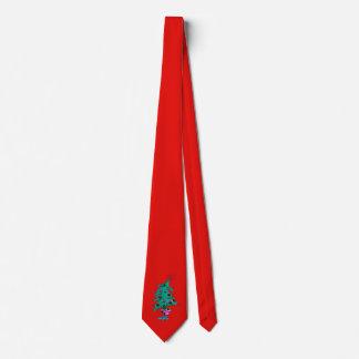 Weihnachtsbaum-Krawatte - Rot - humorvoller Krawatte