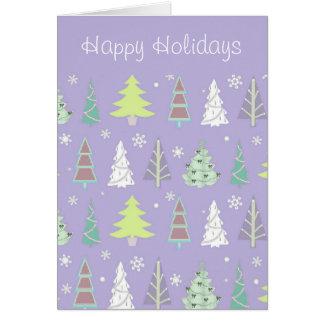 Weihnachtsbaum-Muster violettes und Limones ID175 Karte