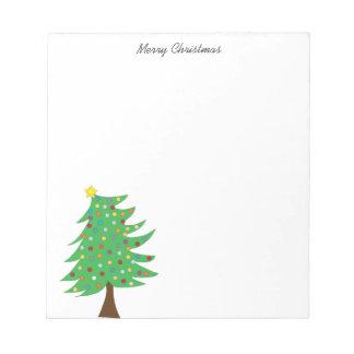 Weihnachtsbaum-Notizblock Notizblock