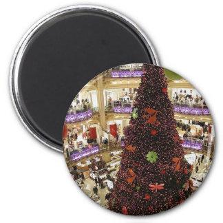 Weihnachtsbaum Paris Lafayette Runder Magnet 5,7 Cm