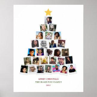 Weihnachtsbaum-Schnappschuss-Kunst Poster
