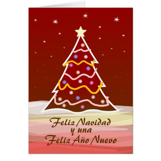 Weihnachtsbaum - Spanisch Karte