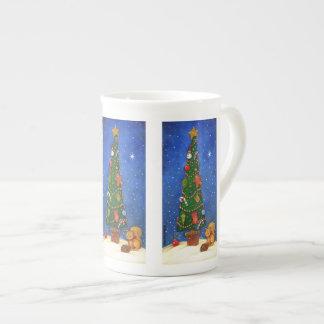 Weihnachtsbaum-Tasse Prozellantasse