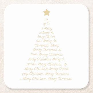 Weihnachtsbaum-Untersetzer Rechteckiger Pappuntersetzer