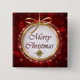 Weihnachtsbaum-Verzierung Bokeh Lichter Quadratischer Button 5,1 Cm