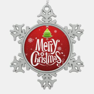 Weihnachtsbaum-Verzierung Schneeflocken Zinn-Ornament